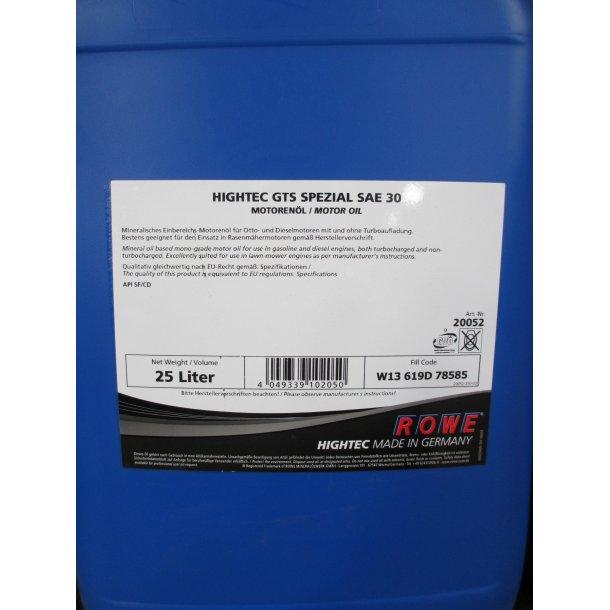 HIGHTEC GTS Spezial SAE30, 20 ltr.